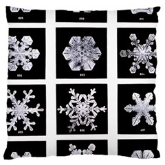 Snowflakes Exemplifies Emergence In A Physical System Large Cushion Case (two Sides) by Amaryn4rt