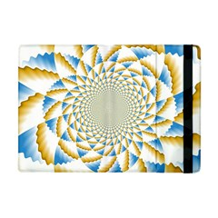 Tech Neon And Glow Backgrounds Psychedelic Art Psychedelic Art Apple Ipad Mini Flip Case by Amaryn4rt