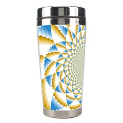 Tech Neon And Glow Backgrounds Psychedelic Art Psychedelic Art Stainless Steel Travel Tumblers by Amaryn4rt