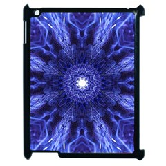 Tech Neon And Glow Backgrounds Psychedelic Art Apple Ipad 2 Case (black) by Amaryn4rt
