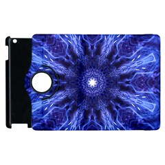 Tech Neon And Glow Backgrounds Psychedelic Art Apple Ipad 3/4 Flip 360 Case by Amaryn4rt