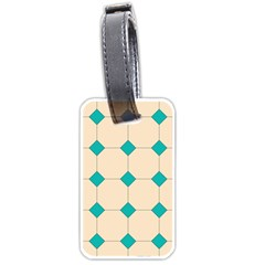 Tile Pattern Wallpaper Background Luggage Tags (One Side)  by Amaryn4rt
