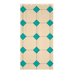 Tile Pattern Wallpaper Background Shower Curtain 36  X 72  (stall)  by Amaryn4rt