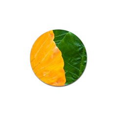 Wet Yellow And Green Leaves Abstract Pattern Golf Ball Marker by Amaryn4rt