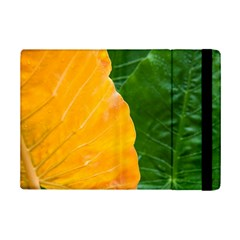 Wet Yellow And Green Leaves Abstract Pattern Ipad Mini 2 Flip Cases by Amaryn4rt
