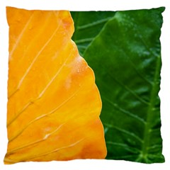 Wet Yellow And Green Leaves Abstract Pattern Standard Flano Cushion Case (one Side) by Amaryn4rt