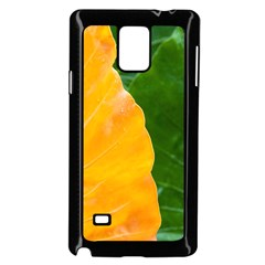 Wet Yellow And Green Leaves Abstract Pattern Samsung Galaxy Note 4 Case (black)