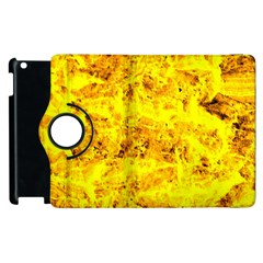 Yellow Abstract Background Apple Ipad 2 Flip 360 Case by Amaryn4rt