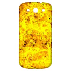 Yellow Abstract Background Samsung Galaxy S3 S Iii Classic Hardshell Back Case