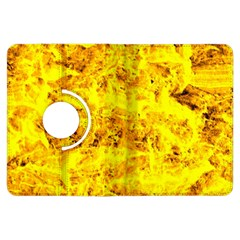 Yellow Abstract Background Kindle Fire Hdx Flip 360 Case by Amaryn4rt