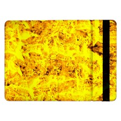 Yellow Abstract Background Samsung Galaxy Tab Pro 12 2  Flip Case by Amaryn4rt