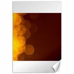 Yellow And Orange Blurred Lights Orange Gerberas Yellow Bokeh Background Canvas 12  X 18   by Amaryn4rt