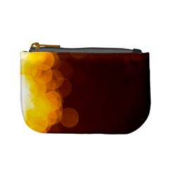 Yellow And Orange Blurred Lights Orange Gerberas Yellow Bokeh Background Mini Coin Purses
