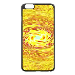 Yellow Seamless Psychedelic Pattern Apple Iphone 6 Plus/6s Plus Black Enamel Case by Amaryn4rt