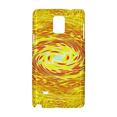 Yellow Seamless Psychedelic Pattern Samsung Galaxy Note 4 Hardshell Case by Amaryn4rt