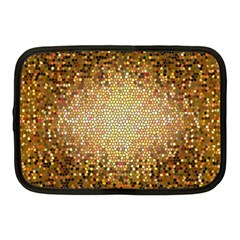 Yellow And Black Stained Glass Effect Netbook Case (medium)  by Amaryn4rt