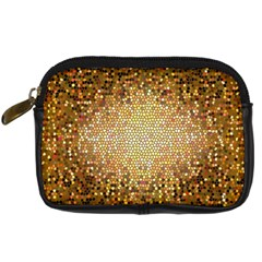 Yellow And Black Stained Glass Effect Digital Camera Cases by Amaryn4rt