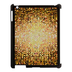 Yellow And Black Stained Glass Effect Apple Ipad 3/4 Case (black) by Amaryn4rt