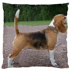 Beagle Full 2 Large Flano Cushion Case (two Sides) by TailWags