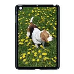 Beagle In Dandilions Apple iPad Mini Case (Black) by TailWags