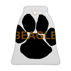 Beagle Name Paw Bell Ornament (Two Sides) by TailWags