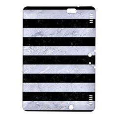 Stripes2 Black Marble & White Marble Kindle Fire Hdx 8 9  Hardshell Case by trendistuff