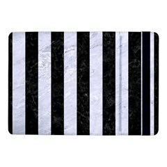 Stripes1 Black Marble & White Marble Samsung Galaxy Tab Pro 10 1  Flip Case by trendistuff