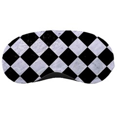 Square2 Black Marble & White Marble Sleeping Mask by trendistuff