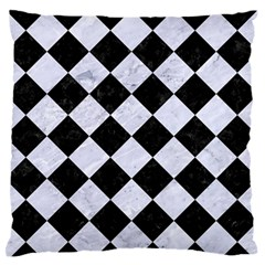 Square2 Black Marble & White Marble Large Flano Cushion Case (two Sides) by trendistuff