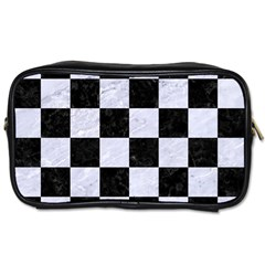 Square1 Black Marble & White Marble Toiletries Bag (two Sides)