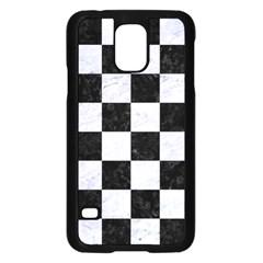 Square1 Black Marble & White Marble Samsung Galaxy S5 Case (black) by trendistuff