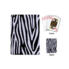 Skin4 Black Marble & White Marble (r) Playing Cards (mini) by trendistuff