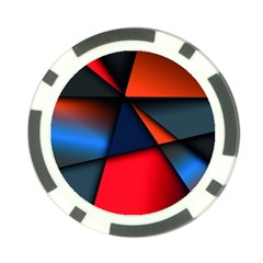 3d And Abstract Poker Chip Card Guard (10 Pack) by Onesevenart
