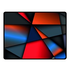 3d And Abstract Double Sided Fleece Blanket (small)  by Onesevenart