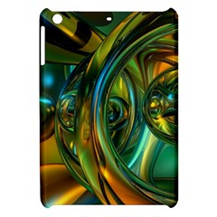 3d Transparent Glass Shapes Mixture Of Dark Yellow Green Glass Mixture Artistic Glassworks Apple iPad Mini Hardshell Case by Onesevenart