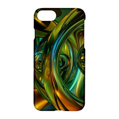 3d Transparent Glass Shapes Mixture Of Dark Yellow Green Glass Mixture Artistic Glassworks Apple Iphone 7 Hardshell Case by Onesevenart
