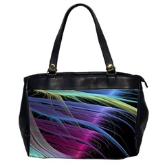 Abstract Satin Office Handbags (2 Sides)  by Onesevenart
