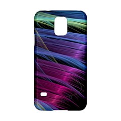 Abstract Satin Samsung Galaxy S5 Hardshell Case  by Onesevenart