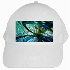 Abstract White Cap by Onesevenart