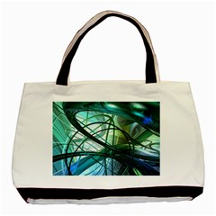 Abstract Basic Tote Bag (two Sides) by Onesevenart