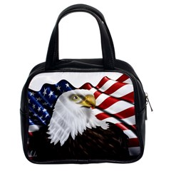 American Eagle Flag Sticker Symbol Of The Americans Classic Handbags (2 Sides) by Onesevenart