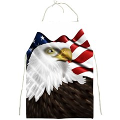 American Eagle Flag Sticker Symbol Of The Americans Full Print Aprons by Onesevenart