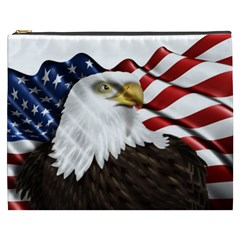 American Eagle Flag Sticker Symbol Of The Americans Cosmetic Bag (xxxl)  by Onesevenart