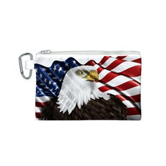 American Eagle Flag Sticker Symbol Of The Americans Canvas Cosmetic Bag (s) by Onesevenart