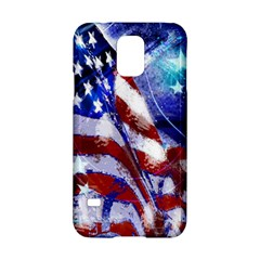 American Flag Red White Blue Fireworks Stars Independence Day Samsung Galaxy S5 Hardshell Case  by Onesevenart