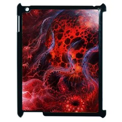 Art Space Abstract Red Line Apple Ipad 2 Case (black)