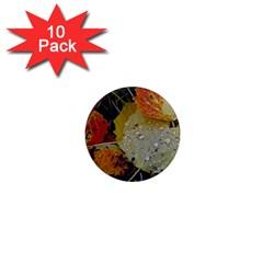 Autumn Rain Yellow Leaves 1  Mini Magnet (10 Pack)  by Onesevenart