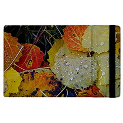 Autumn Rain Yellow Leaves Apple Ipad 3/4 Flip Case by Onesevenart