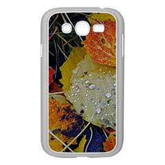 Autumn Rain Yellow Leaves Samsung Galaxy Grand Duos I9082 Case (white) by Onesevenart