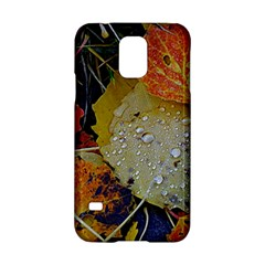 Autumn Rain Yellow Leaves Samsung Galaxy S5 Hardshell Case  by Onesevenart